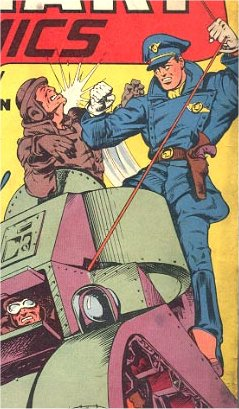 Blackhawk's debut in Military Comics #1