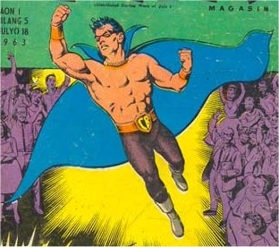 Captain Barbell's first appearance, in Pinoy Komiks #5